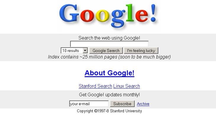 Google Search en 1998
